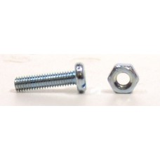 M3 x 12mm ZP Machine Screws & Nuts