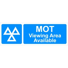 MOT Viewing Area Available - RPVC (600 x 200mm)