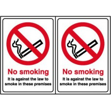 No smoking Double sided - D/S SAV (148 x 210mm)