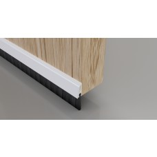 Concealed Brush Strip - 838mm White Aluminium