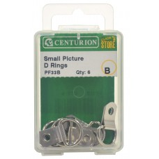 25mm NP Small Picture D Rings (Pack of 4)