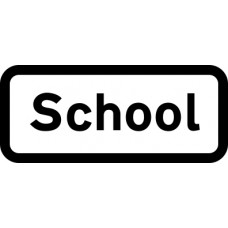 439 x 188mm Dibond 'School' Road Sign (with channel)
