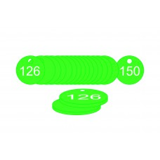 33mm dia. Traffolite Tags - Green (126 to 150)