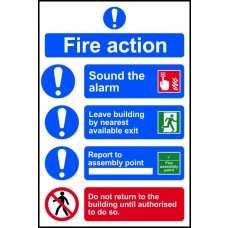 Fire action procedure - SAV (200 x 300mm)