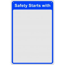 Safety Mirror:  Safety starts with - MIR (200 x 300mm)