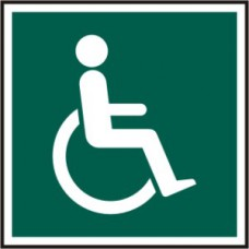 Disabled symbol - PVC (150 x 150mm)