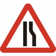 600mm tri. Temporary Sign & Frame - Road Narrows Right