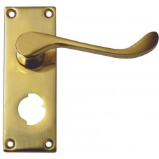 100mm PB Victorian Scroll Privacy Handle
