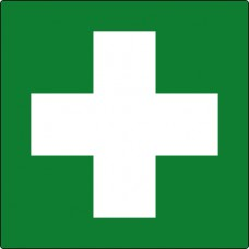 First aid symbol - Labels (50 x 50mm Roll of 250)
