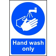Hand wash only - PVC (200 x 300mm)