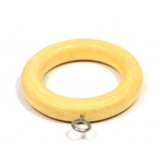 Renaissance Wooden Curtain Rings Natural 28mm 4pk