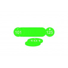 27mm dia. Traffolite Tags - Green (101 to 125)