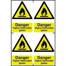 Danger Highly flammable gases - PVC (200 x 300mm)