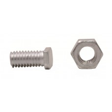 M6 x 11mm Cropped Head Nut & Bolts (Pack of 10)