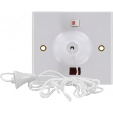45 Amp White Pull Cord Ceiling Switch