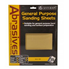 0 Abrasive Sandpaper (pack of 25)