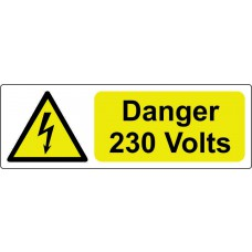 Danger 230 Volts - Pack of 25 SAV (75 x 25mm)
