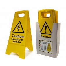 Heavy Duty A-Board Box Deal - Caution Electricians Working