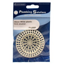 "1 3/4"" White Plastic Sink Strainer"
