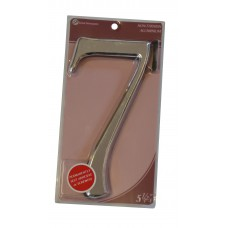 """5 1/2"""" Silver Effect Numeral 7"""