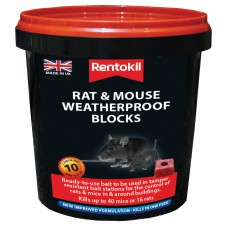 Rentokil - Mouse & Rat Weatherproof Blocks - 10 Sachet
