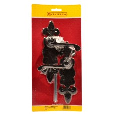 "187mm x 50mm (7 1/2"" x 2"") Tudor Fleur De Lys Latch Set"