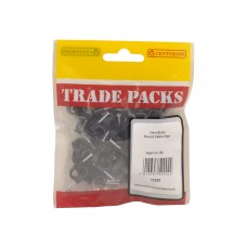 Cable Clips - Black Round - 7mm  (80 PK)