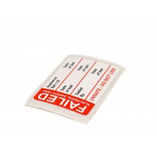 Fail Test Label - 50 Roll SAV (50 x 35mm)