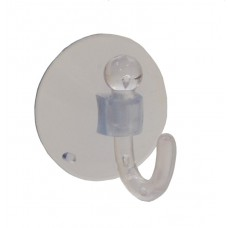 42mm Clear Plastic Suction Hook (Pack of 2)
