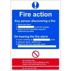 Fire action procedure - RPVC (148 x 210mm)