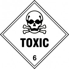 Toxic 6 - Labels (250 x 250mm Pack of 10)
