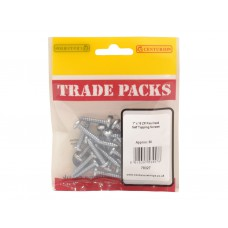 "1"" x 10 ZP Pan Head Self Tapping Screws  (Pack of 30)"