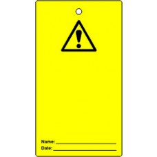 Lockout tags - 'Caution blank for user completion' (Single sided 10 pack)