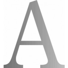 51mm Silver Traditional Oldstyle Font Vinyl Letter A
