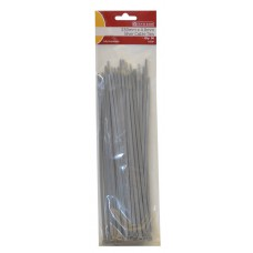 250mm x 4.8mm Silver Cable Ties 50pk