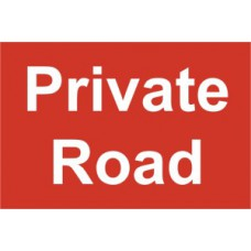 Private Road - PVC (300 x 200mm)