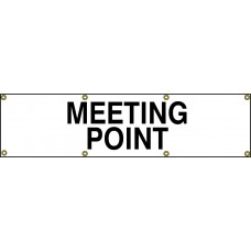 Meeting Point Banner (with seperate arrow) 1200 x 300mm