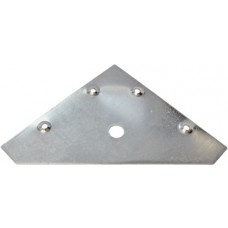 83mm x 83mm ZP Flat Corner Plate (Pack of 4)