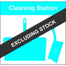 Shadowboard - Cleaning Station Style D (Blue) With Hooks - NO STOCK