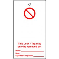 Lockout tags - 'Prohibition blank for user completion' (Single sided 10 pack)