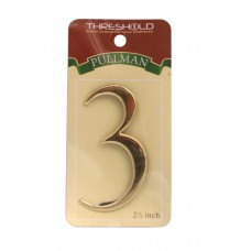 """2 1/2"""" Gold Effect Pullman Numeral 3"""