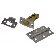 Latch & Hinge Packs - BZP - CE Fire Rated - 4PK