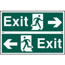 Exit man running arrow left/right - PVC (300 x 200mm)