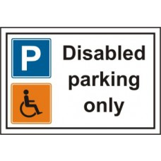 Disabled parking only - PVC (300 x 200mm)